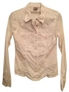 True Religion Button Down Shirt White