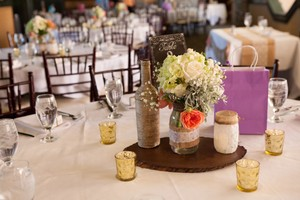 Set Of 12 Custom Wedding Centerpieces And Misc. Decorations