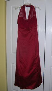 David's Bridal Apple Red F15933 Dress