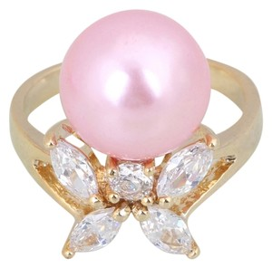 Other Adorable Topaz Pink Pearl Ring size 8