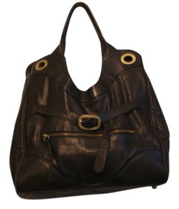 Foley + Corinna Leather Tote in Black