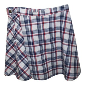 American Apparel Mini Skirt Plaid (Red, White, Blue)