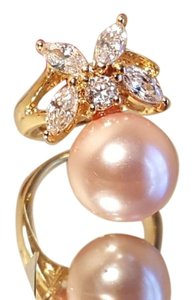 Other Pink Pearl Topaz Gold plated ring size 7.5