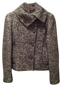 Ted Baker Boucle Tweed Black and White Jacket