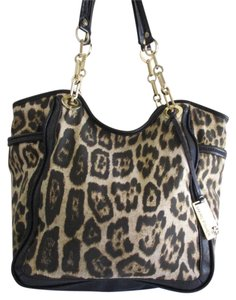 Marc Fisher Nylon Leather Black Gold Harware Shoulder Bag