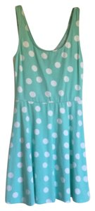 short dress Teal, White on Tradesy