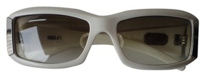 Spy Spy Optic Abbey Sunglasses Gradient Lens Cream White