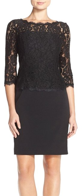 Preload https://img-static.tradesy.com/item/12064144/adrianna-papell-black-34-sleeve-contrast-lace-sheath-above-knee-cocktail-dress-size-4-s-0-1-650-650.jpg