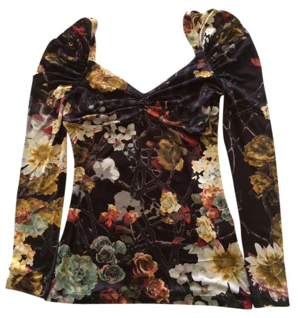 Just Cavalli Top Black floral