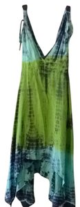 Beulah short dress Blue Green Tye Dye on Tradesy