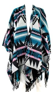 Montana West Multi Color Blue Cape
