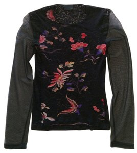 D&G Top Black floral
