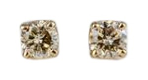 ABC Jewelry Round Diamond Stud Earrings .45 TCW