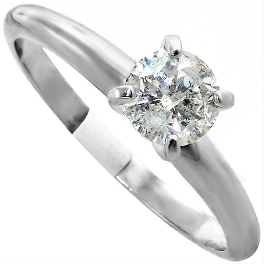 ABC Jewelry Diamond Engagement Ring Solitaire .70tcw F/i1 14k White Gold Made In Usa