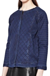 French Connection Quilted Womens Jean Jacket