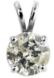 ABC Jewelry 1 1/4 ct Round Diamond Solitaire ONE stone Pendant 1.23 100% NATURAL USA CO.