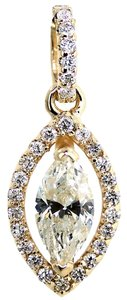 ABC Jewelry 1 CT Marquise diamond dangle drop Pendant .91 TCW 100% NATURAL 14Kt YELLOW Gold