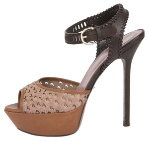 Sergio Rossi Brown Platforms
