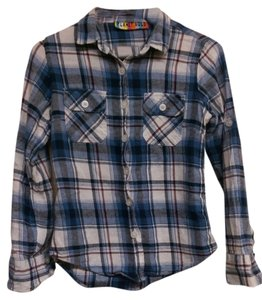 Planet Gold Plaid Button Down Shirt