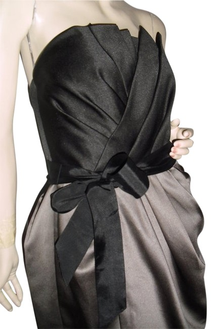 Item - Gray & Black Pleated Draped Collection @ Fashionista Style Boutique Knee Length Cocktail Dress Size 2 (XS)