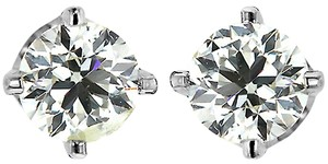 ABC Jewelry Round Diamonds Solitaire Studs earrings 1/2 .49 ct Super BRIGHT 100% USA CO.