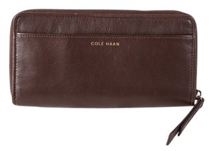 Cole Haan * Cole Haan Brennan Woven Large Continental Wallet - Brown