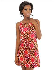 PAPER DOLL short dress Fusia on Tradesy