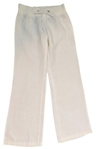 Lilly Pulitzer Wide Leg Pants White Linen