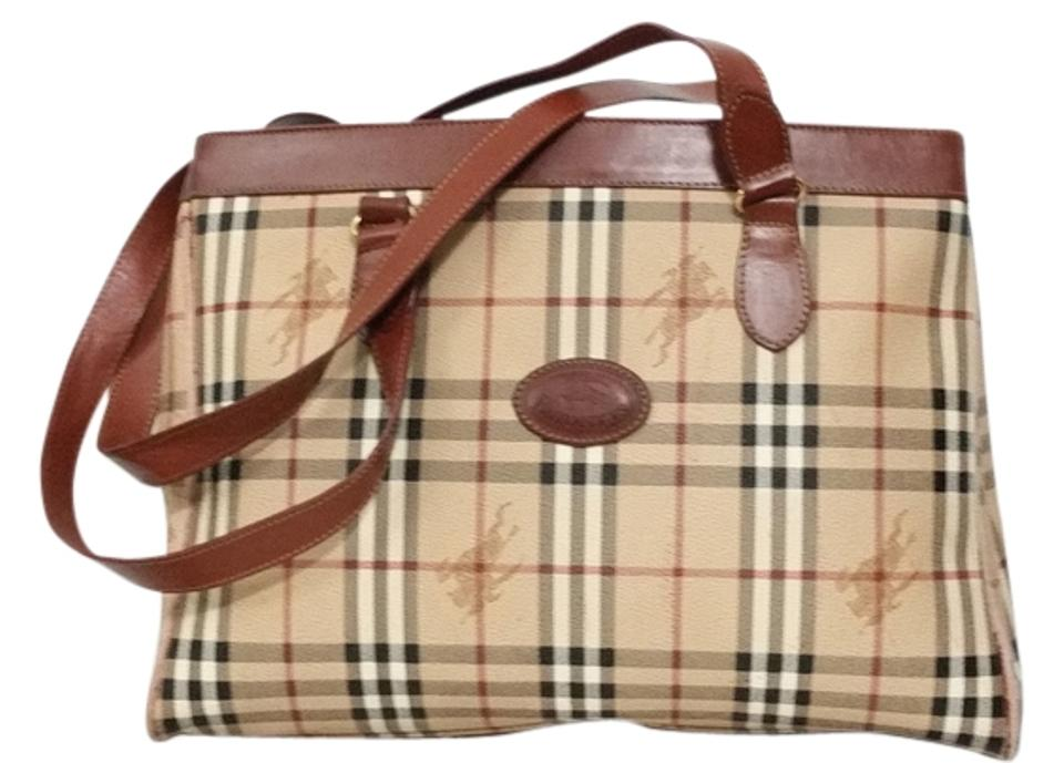 Burberry Made In England X-large Prorsum Bag-very Good Condition Black Red  Beige Brown Leather and Haymarket Checker Canvas Shoulder Bag 2934808d0f995
