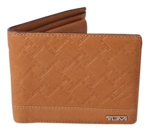 Tumi Tumi Chestnut Embossed Leather Bifold Wallet