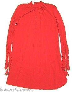 Temperley London short dress Red Shift Zipper Long Sleeves on Tradesy