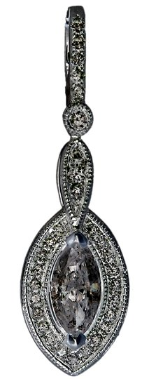 ABC Jewelry 1/2 CT Marquise diamond dangle drop Pendant .51 TCW 100% NATURAL 14Kt White Gold