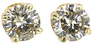 ABC Jewelry Round Diamonds Solitaire Studs earrings 1/5 .16 ct NATURAL BRIGHT 100% USA CO YG