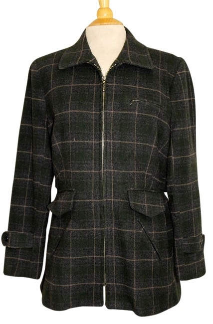 Item - Gray Fitted Wool Jacket Size 12 (L)
