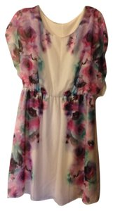 Maurices short dress White, Floral on Tradesy
