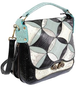 Derek Lam Snakeskin Leather Shoulder Bag