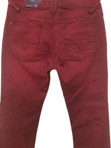 Vigoss Red Brick Denim Stretch Boot Cut Jeans-Medium Wash