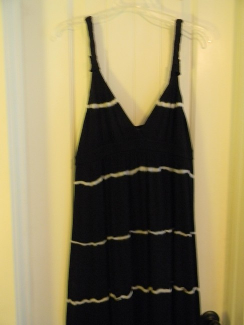 Black with white stripes Maxi Dress by Lucky Brand