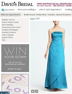 David's Bridal Malibu Satin Gown With Side Drape And Brooch Dress