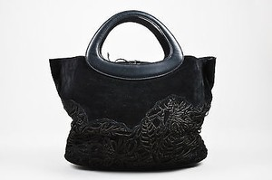 Christian Lacroix Suede Tote in Black