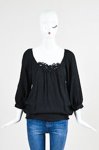 Rebecca Taylor Silk Top Black