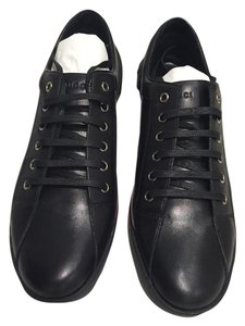Gucci Women's Leather Trainers Black Athletic