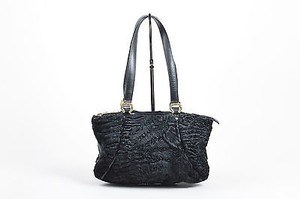 St. John Couture And Gold Tote in Black
