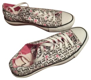 Converse White & Pink Athletic