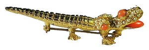 Kenneth Jay Lane Vintage 1960s Kenneth Jay Lane Alligator Brooch