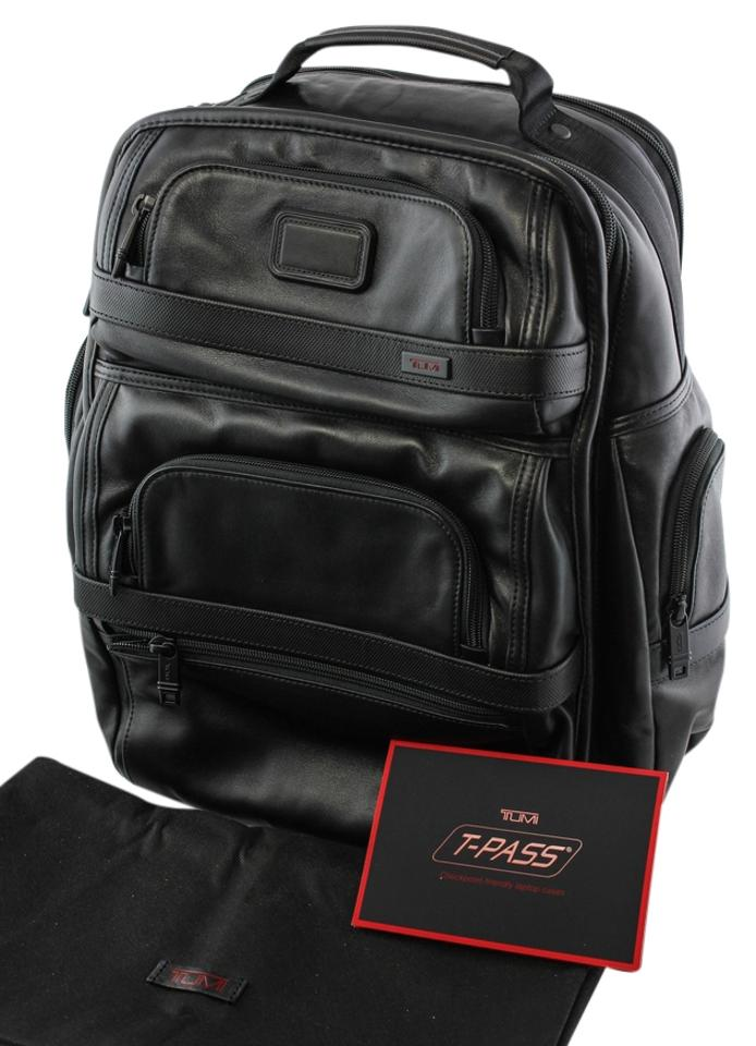 df77ae841 Tumi Alpha 2 T-pass Business Brief Pack Black Leather Backpack - Tradesy