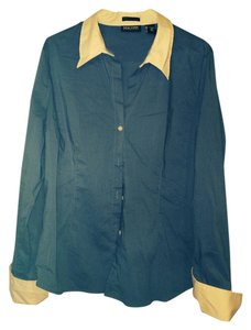 City stretch Button Down Shirt Blue/white