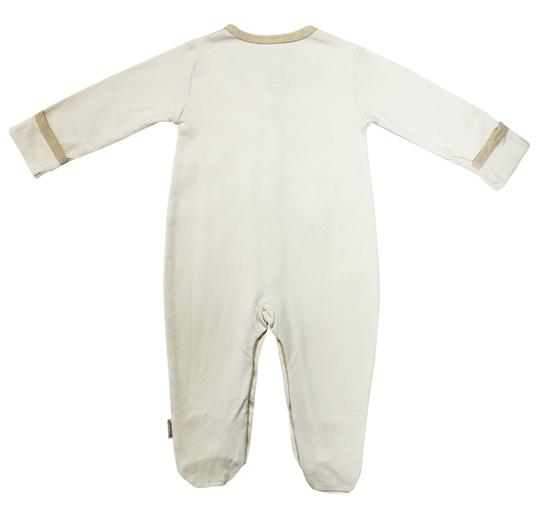 Eotton Certified Organic Cotton Beige Baby Romper - Small (3-6 Months)