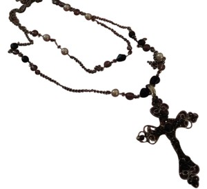 Park Lane Silver and Black Rosary