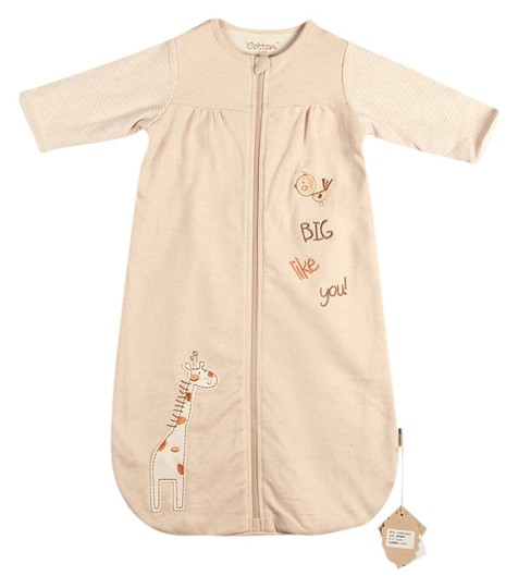 Eotton Certified Organic Cotton Long Sleeve Coverall- Small (0-6 months)